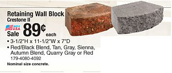 Menards 89 Landscape Retaining Wall Blocks Price Match 10